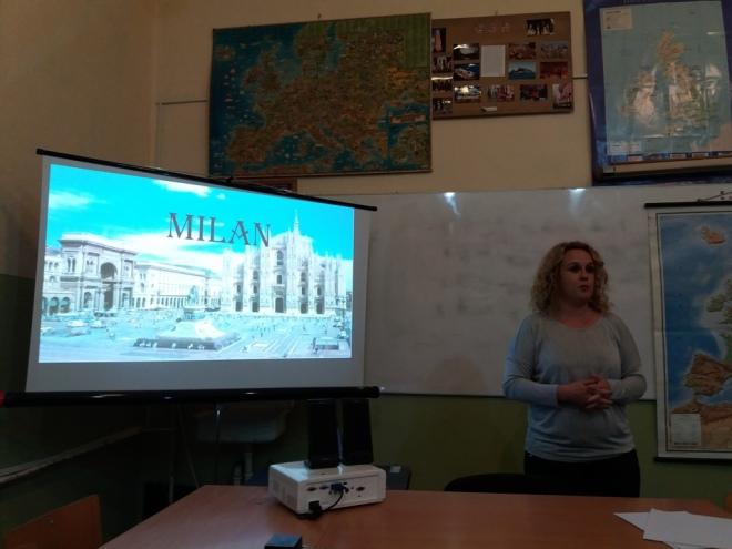 Tanja Milosavljević, nastavnica muzičke kulture i prezentacija o italijanskoj muzici